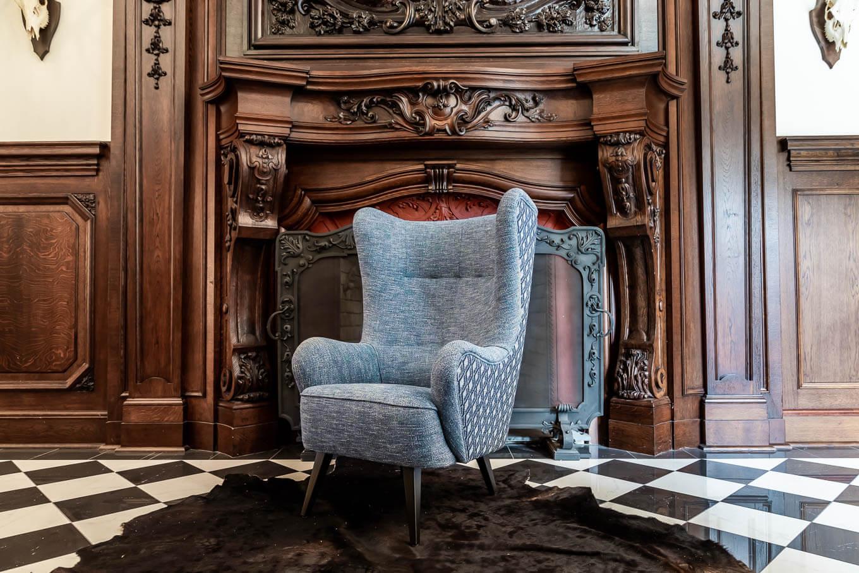 Fotel OFF Meble tapicerowane producent Nowy Sącz Kraków Małopolska sesja Pałac Goetz