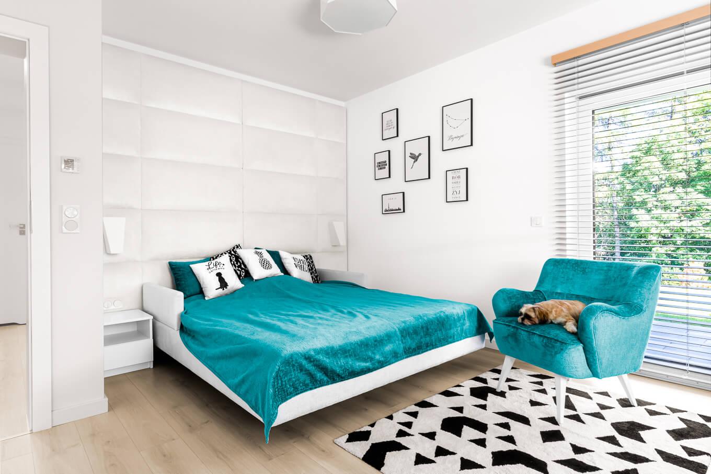 Łóżko z panelem ściennym panel Dorado fotel Roma Meble tapicerowane producent HM Manufaktura Nowy Sącz Kraków Małopolska