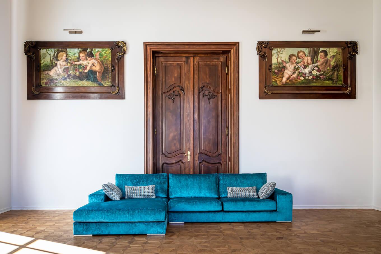 Ekskluzywne meble tapicerowane producent Nowy Sącz Kraków Małopolska sofa Morena Pałac Goetz