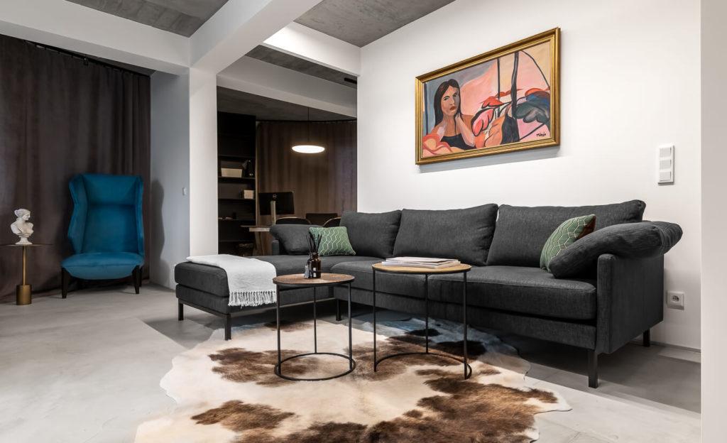 Sofa z szezlongiem Hydra meble tapicerowane wypoczynkowe producent HM Manufaktura Nowy Sącz Kraków Małopolska